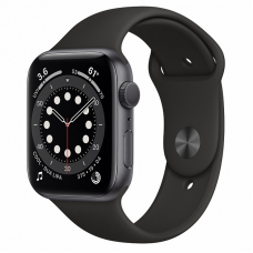 Apple Watch S6 44mm Space Gray Aluminum Case / Black Sport Band