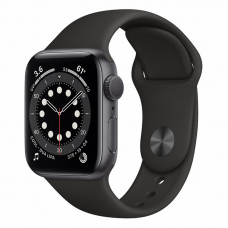 Apple Watch S6 40mm Space Gray Aluminum Case/ Black Sport Band