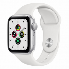 Apple Watch SE 40mm Silver Aluminum Case / White Sport Band