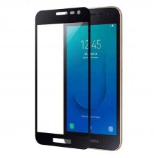 Защитное стекло 3D для Samsung Galaxy J2 Core Черное (Тех.Упаковка)