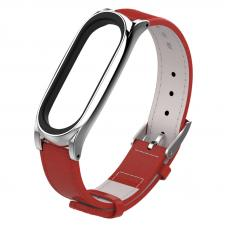 Ремешок для Mi Band 3/4 Leather Red
