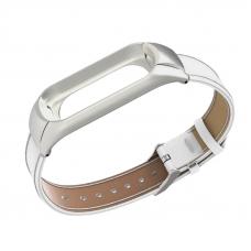 Ремешок для Mi Band 3/4 Leather White
