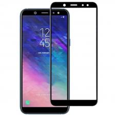 Защитное стекло 3D для Samsung Galaxy A6 Черное (Тех.Упаковка)