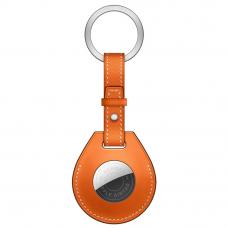 Брелок AirTag Hermès с кольцом для ключей Orange