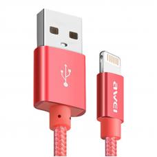 Кабель USB - Lighting / Awei CL-95 / 1M / Красный
