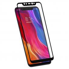 Защитное стекло 3D для Xiaomi Mi 8 Черное (Тех.Упаковка)