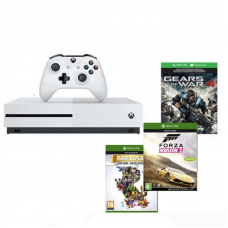 Microsoft XBox One S 1TB + GOW 4 + FH 2 + Rare Replay (комплект)
