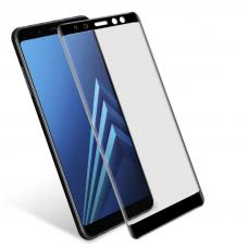 Защитное стекло 3D для Samsung Galaxy A8 Черное (Тех.Упаковка)