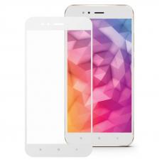 Защитное стекло 3D для Xiaomi Mi A1 Белое (Тех.Упаковка)