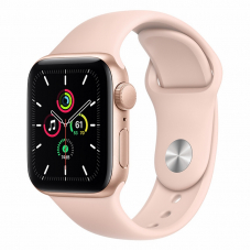 Apple Watch SE 40mm Gold Aluminum Case / Pink Sand Sport Band