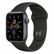 Apple Watch SE 40mm Space Gray Aluminum Case / Black Sport Band