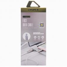 Кабель USB - Lighting / Awei CL-95 / 1M / Белый