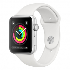 Apple Watch S3 38mm Silver Aluminum / White Sport Band