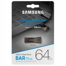 USB Накопитель Samsung Flash Drive Bar Plus 64GB Gray