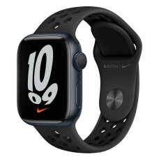 Apple Watch S7 NIKE 41mm Midnight Aluminum Case / Anthracite/Black Nike Sport Band