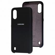 Чехол Samsung A01 Silicone Cover Black