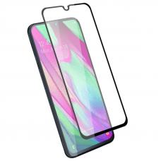 Защитное стекло 3D для Samsung Galaxy A40 Черное (Тех.Упаковка)