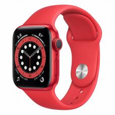 Apple Watch S6 40mm Red Aluminum Case / Red Sport Band Идеальное Б/У