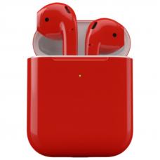 Apple AirPods 2 Красный Глянец (с функцией беспроводной зарядки)