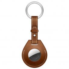 Брелок AirTag Hermès с кольцом для ключей Fauve