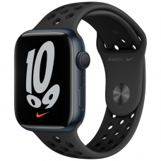 Apple Watch S7 NIKE 45mm Midnight Aluminum Case / Anthracite/Black Nike Sport Band